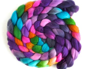 SALE: Superwash Merino/ Nylon Roving (Top) - Handpainted Spinning or Felting Fiber, Marin's Pencils
