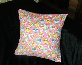 Pillow cover - Mexican skulls