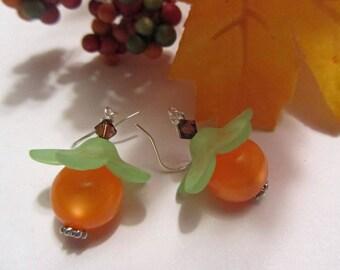 Pumpkin Earrings Fall Earrings Autumn Earrings Orange Fall Gifts Halloween Jewelry