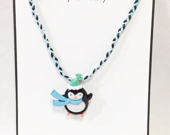 Penguin Pendant Necklace - Free Shipping in the US