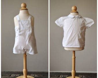 ON SALE 1980s French Sunsuit & Top Set~Size 3 Months