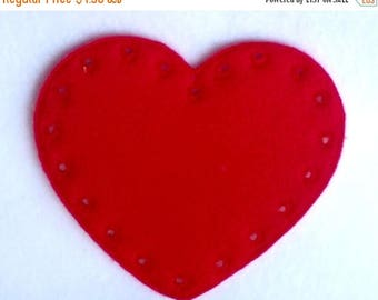 SALE Heart lacing card - learn to sew - sewing game - educational learning toy -fine motor skills - hand eye coordination-  #3865