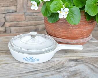 Vintage Corning Ware Pot w/Lid 6 1/2 Inch