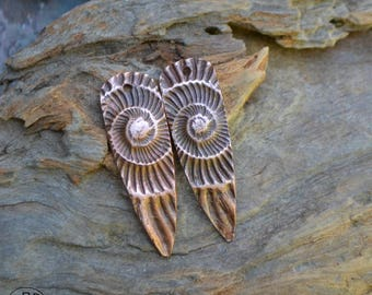 Ammonite Shard, Copper Point shaped pair