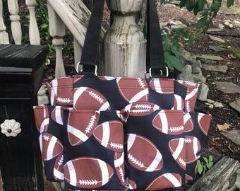 Football Organizer Caddy-Organizer Tote-Nurse Bag-Teacher Bag-Toy Bag-Shower Caddy-Includes Monogram