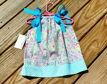 Girls Spring Dress - Pillowcase Dress - Pastel Dress - Paisley Dres - Polka Dot Dress - Toddler Girl Dress  -  Sundress - Groovy Gurlz