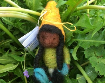 Gnome Needle Felted Girl Gnome - The Gnome Project