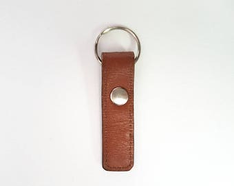 REPURPOSED Leather Keychain. Recycled Leather Belt. Leather Key Ring. Ready To Ship.