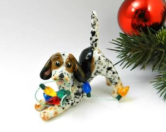 Treeing Walker Coonhound Christmas Ornament Figurine Lights Porcelain