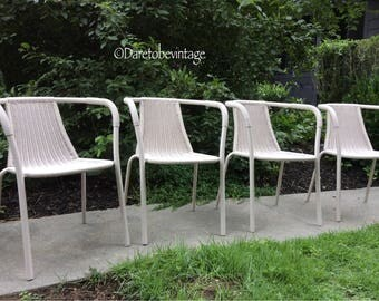 Mid Century Modern Knoll Style Bistro Chairs - Vintage Mid Century Modern Chairs - Mid Century Modern Knoll Chairs