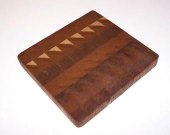 OOAK END GRAIN Cutting Board, Chopping Board, Butcher Block, Carving Board, Bread Board Handcrafted from AshHardwood