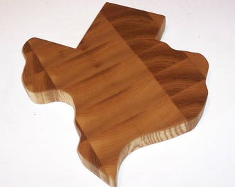 TEXAS End Grain Cutting Board Handcrafted from Ash Hardwood