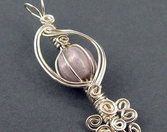 Sale, 15% Off - The Caged Bird's Song Pendant  - Wire Wrapping Tutorial