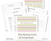 Fiber Spinning Journal Handspinners notebook spinning journal fiber arts printable