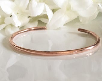 Copper Bracelet, Copper Cuff, Copper Cuff Bracelet, Hand Forged Copper Bangle, Copper Cuff For Women or Men