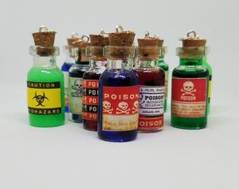 Poison Bottle Necklace Potions  Goth LARP/RPG Special Offer!