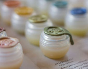 Solid Natural Perfume Sample Set of ten nature fragrances made with essential oils  - Little luxuries, handmade with nature