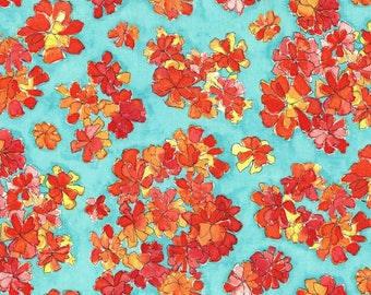 Michael Miller Fabric Tiny Cosmos in Red Fat Quarter From the Cosmos Collection by Laura Gunn