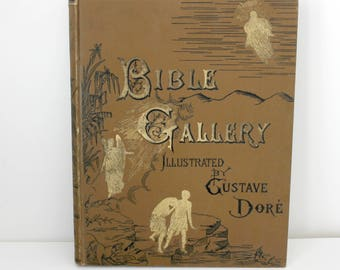 Bible Gallery Illustrated by Gustave Doré Antique Book, Biblical Art Drawings