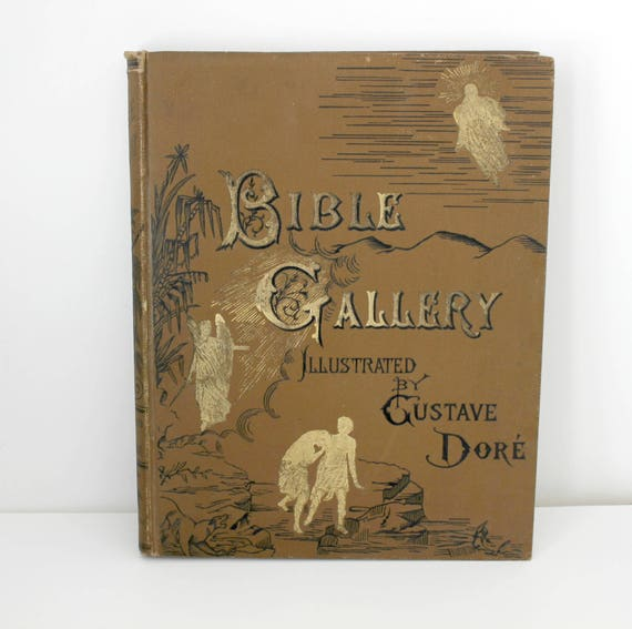 Antique Bible Gallery Illustrated by Gustave Doré Book, Biblical Art Drawings