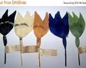 ON SALE Vintage Millinery German  Feather  Hat Trim NOS Fancy Wings On A Stick