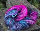 Handpainted sock yarn, fingerling yarn, Superwash Merino  Nylon, 100 grams-New Wave