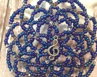 Music Note Kippah - Cantor Kippah - Temple Cantor Kippah - Unite Misic Note Kippah.