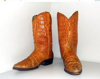 Mustard Yellow alligator cowboy boots size 7.5 D or cowgirl size 9