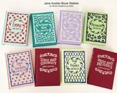 Jane Austen Book Purse Wallet - Pride and Prejudice Literary Gift - Emma Book Cover Wallet - Jane Austen Credit Card Book Wallet