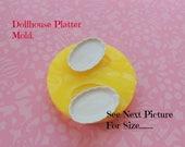 Dollhouse Platter Mold, Miniatures Mold, Mini Sweets Mold, Platter, Silicone Mold, Plate Mold, Miniatures, Resin Mold, Polymer Clay Mold