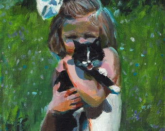 A kitten / ORIGINAL PAINTING on canvas