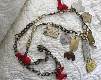 Upcyled Repurposed Vintage Dog License Necklace