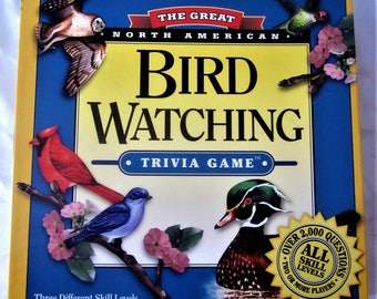 BIRD WATCHING Trivia Board Game General Knowledge Questions Family Fun Party Rain Nights Great North American