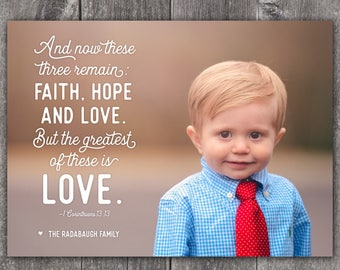 1 Corinthians 13:13 - Custom Digital or Printed Photo Valentine Greeting Card