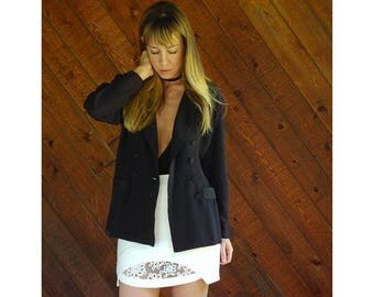 20% off SUMMER SALE. . . Black Tuxedo Blazer Jacket - Vintage 90s - S/M