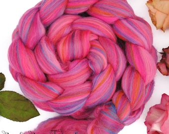 CAN CAN - Custom Blend Merino Bamboo Silk Combed Top Wool Roving for Spinning, Nuno Felting -4 oz