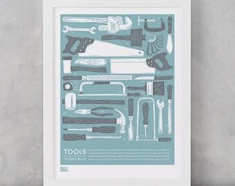 Work Bench Tools Design, DIY Wall Art, Garden Tools, Home Decor, Illustrated Wall Design, Garden Essentials, DIY Essentials