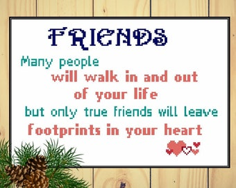 Friends - counted cross stitch chart - downloadable chart