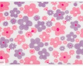 Minky Fabric, Pink and Purple floral, Sweet Posy Lilac Shannon Fabrics