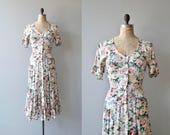 Better Nature dress | vintage floral maxi dress | floral print rayon dress