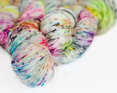 Ruckus 463 yards on 'Posh' Sock Yarn/ 4 ply merino, hand painted sprinkle