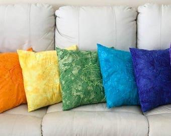 Chakra Throw Pillow SET - Chakra Pillow SET - Throw Pillows - Pillow Cover - Reiki Pillow - Crystal Healing - Sacred Geometry - Meditation