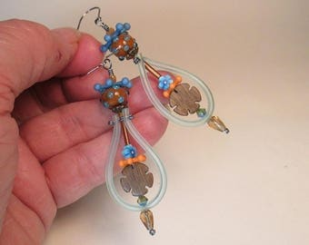 Hoopie Woodsy Helecopter Earrings by Patti Cahill