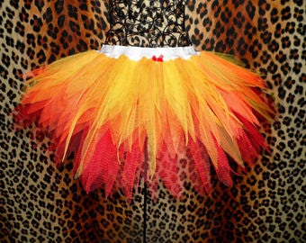 Fire Tutu Halloween Tutu Devil Costume Phoenix Costume Flames Tutus Adult Tutu