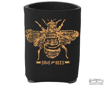 SAVE The BEES- Hand Screen Printed Can Cooler