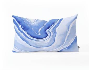 Oblong Throw Pillow - Blue Agate
