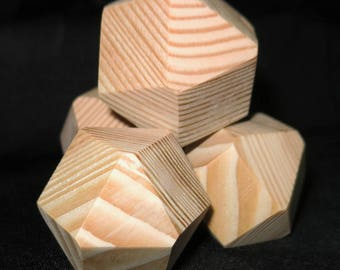 14 sided wooden blank dice for classroom or home use