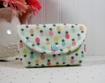 Small Snap Pouch, Accessory Pouch, Small Cosmetic Pouch ... Pineapple Turnover, Adornit
