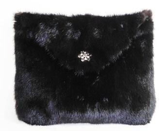 Ranch mink envelope evening purse