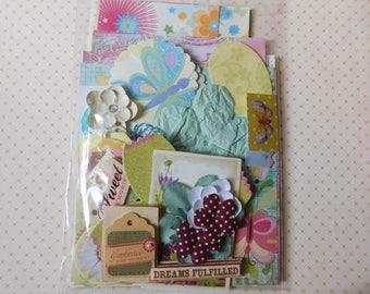 Summer Inspiration Kit - DIY Ephemera Scrap Pack - Bits and Pieces